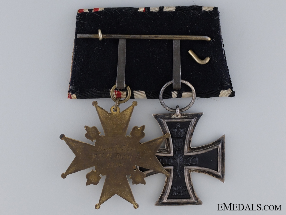 WWI German Army Pair Named to Dem Ritter V.S.M. Josef