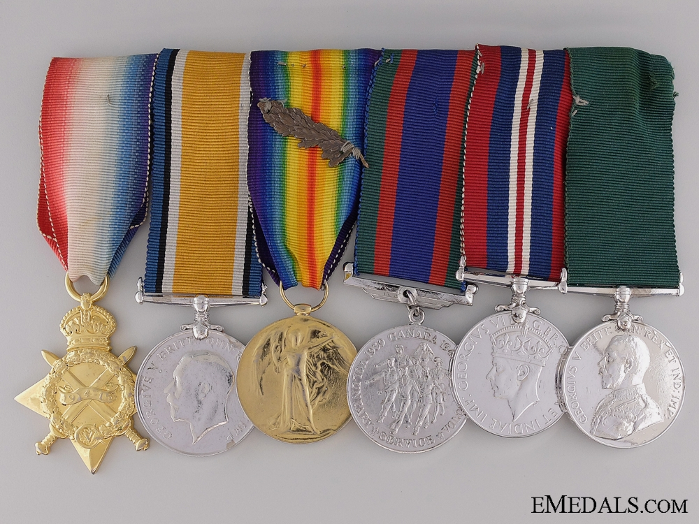 A First War Medal bar to the 1st Canadian Inf.; Wounded 3 Times