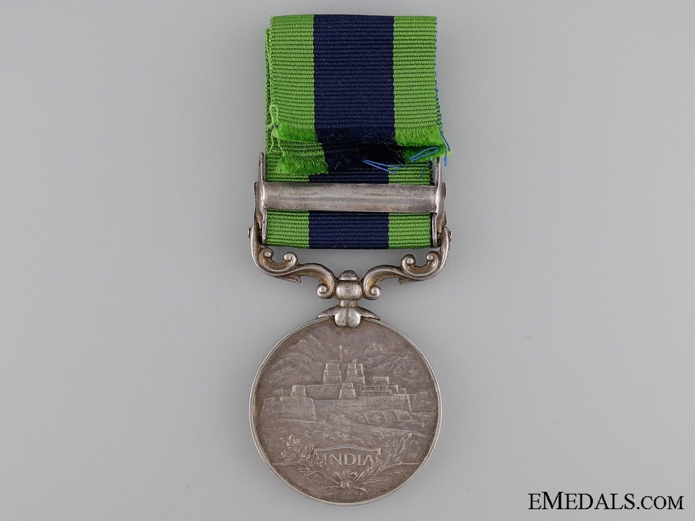 An India General Service Medal to the  12th Frontier Force Regiment