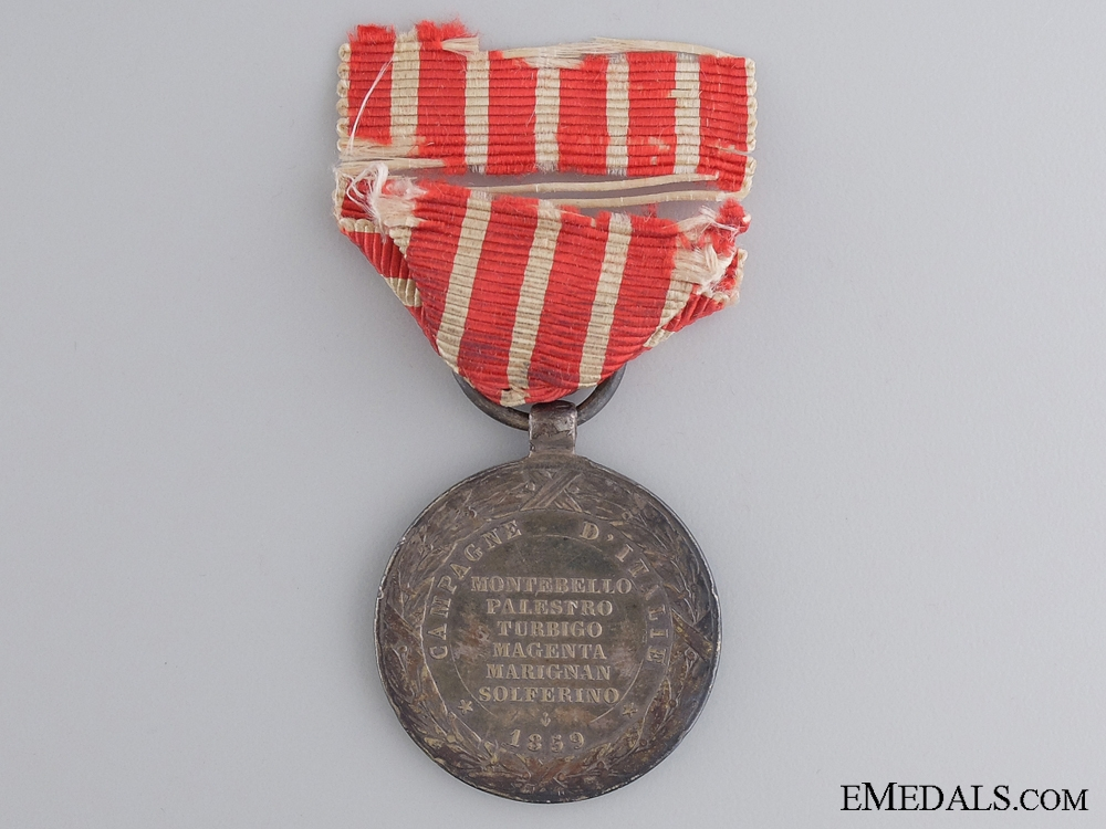 A 1859 French Campaign Medal for Italy
