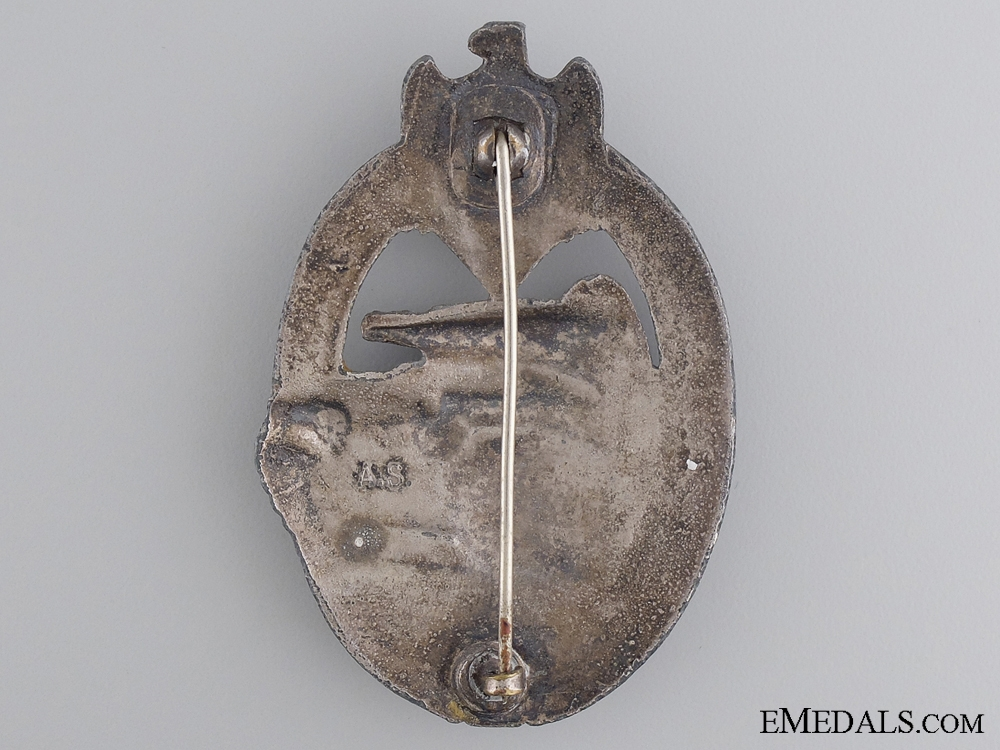 A Silver Grade Tank Badge by A.S.