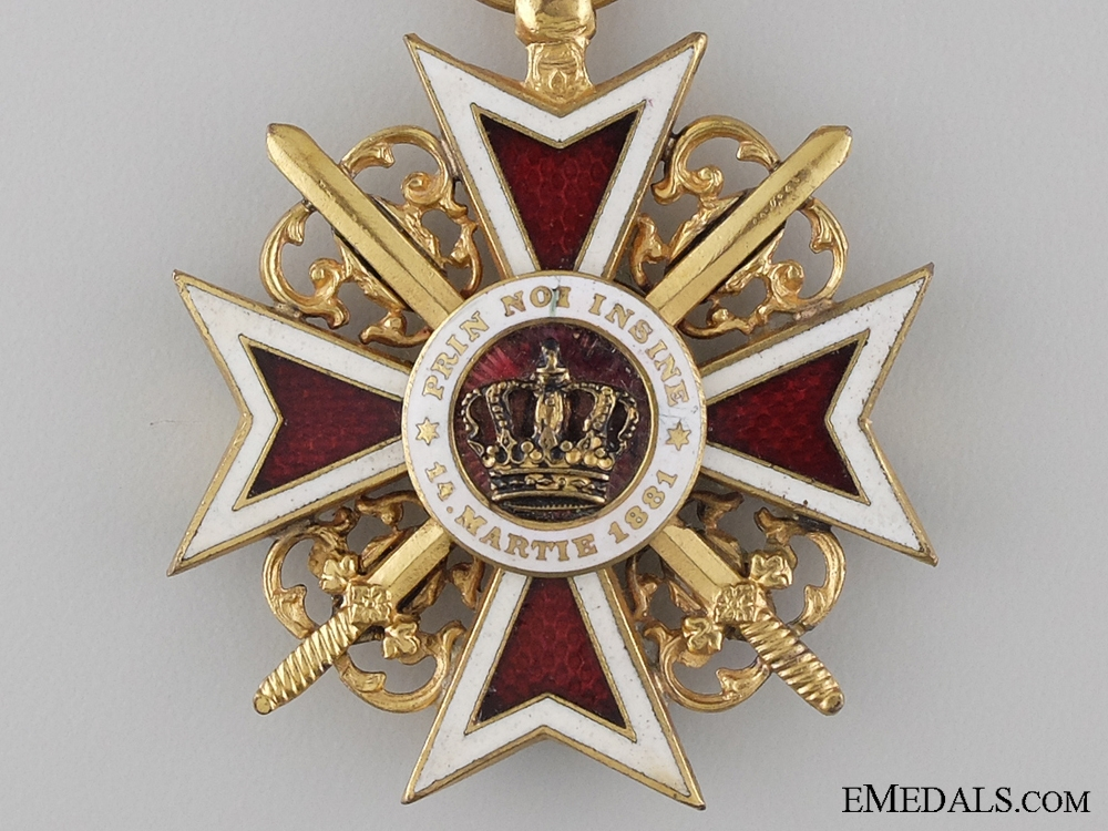 The Order of the Crown of Romania with Swords; Officer 1881-1932