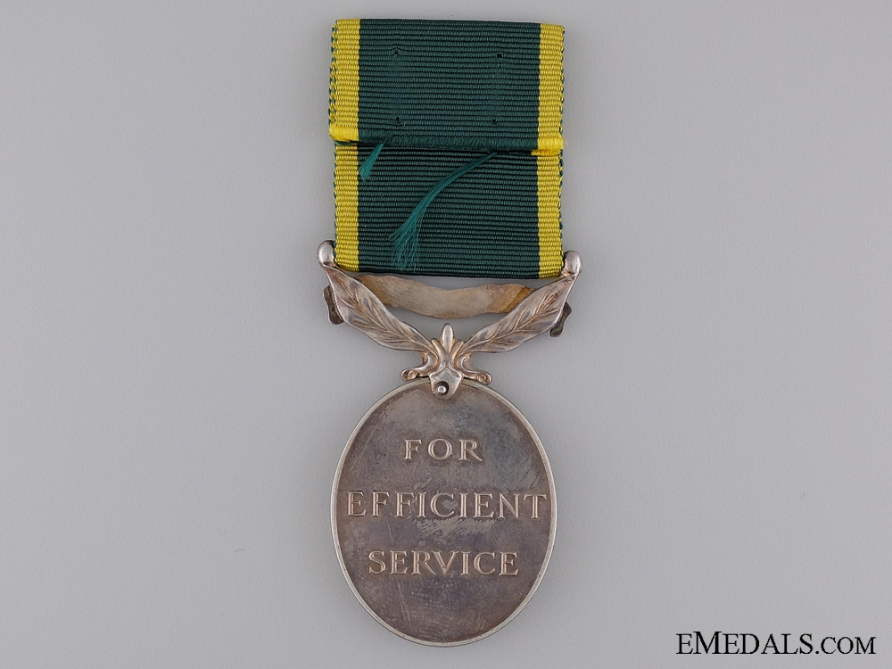 Efficiency Medal to the Royal Canadian Artillery