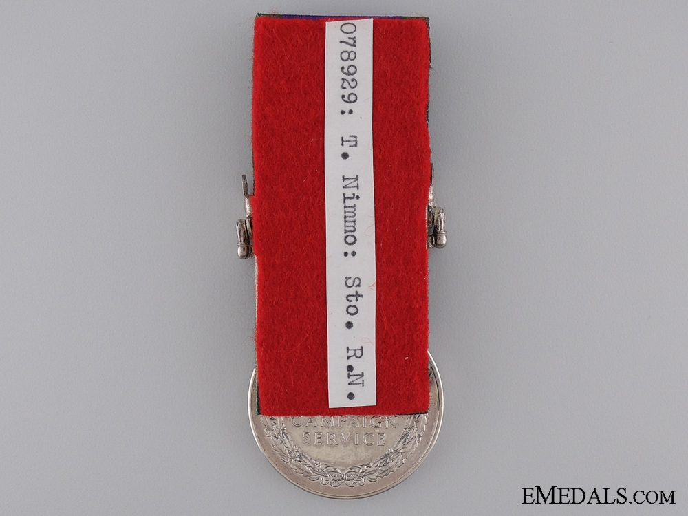1962 General Service Medal to the Royal Navy