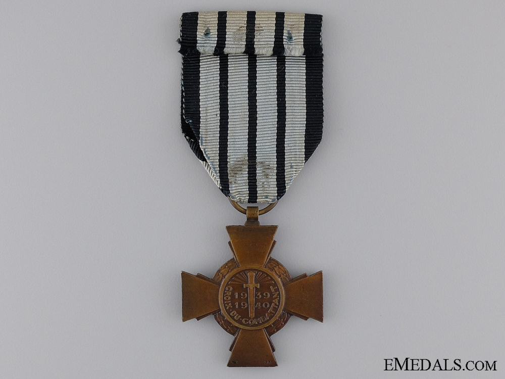 A 1941 French Combatant's Cross; Type II (Vichy Model)