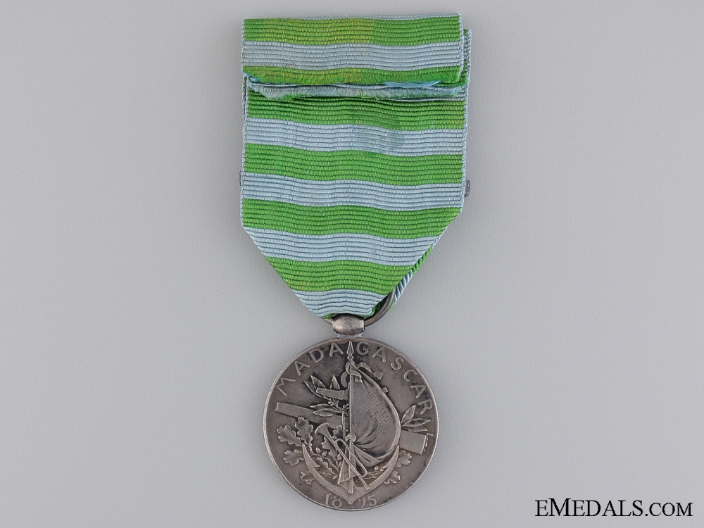 A French Madagascar Medal; Type II for the Second Expedition