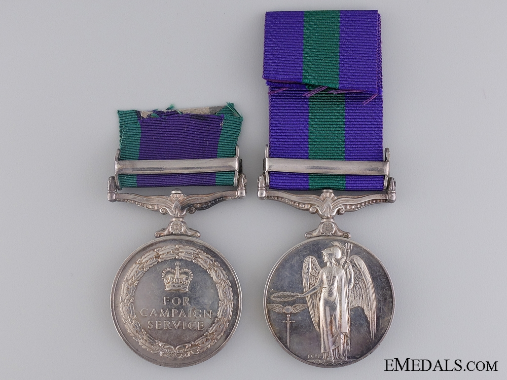 A General Service Medal Pairing to the Gurkha Rifles