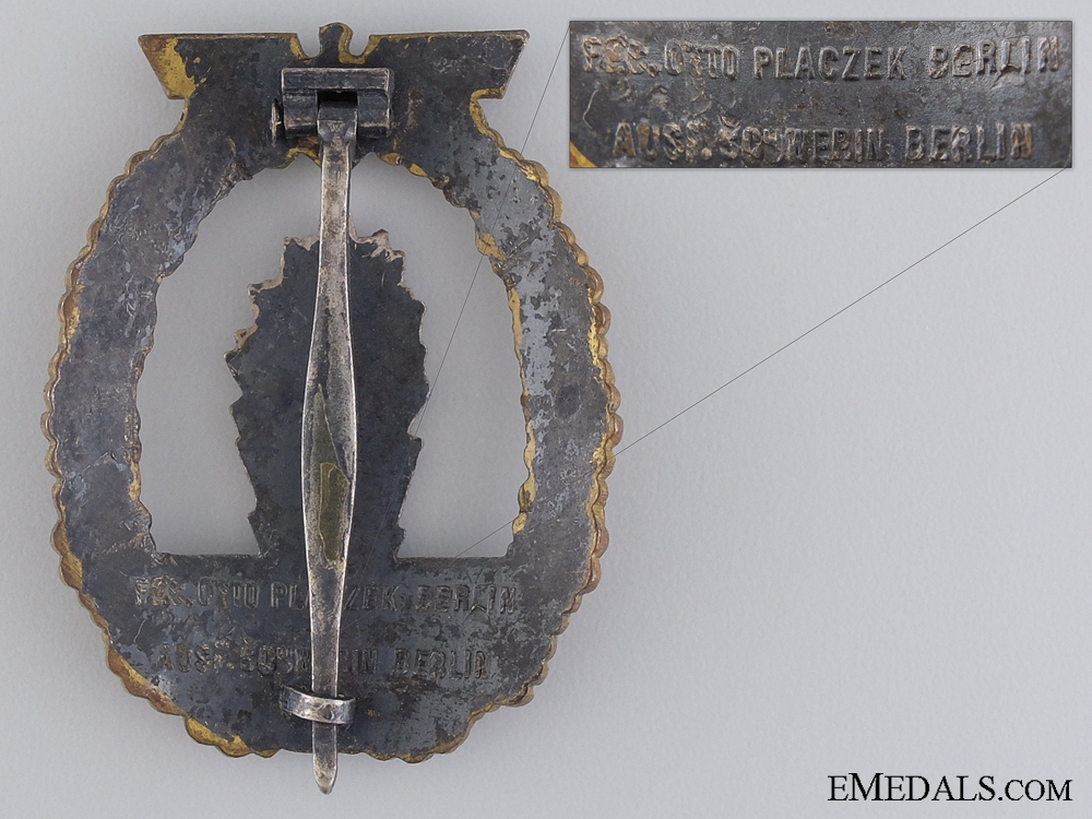 An Early Minesweeper War Badge by Schwerin