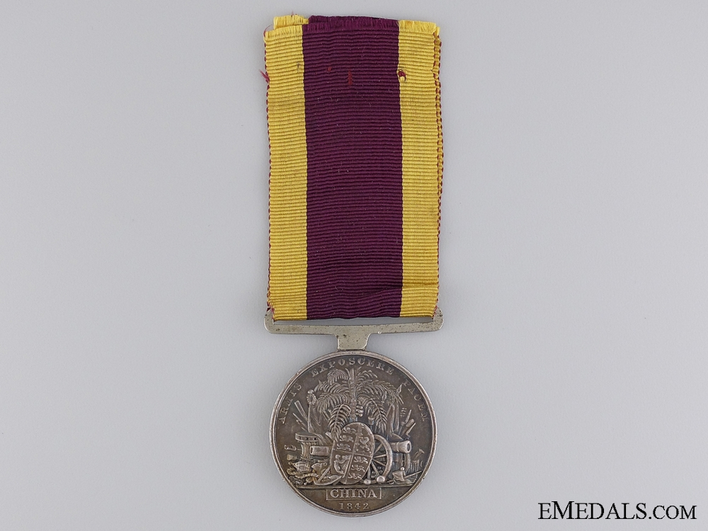 A China War Medal 1841-1842 to the Madras Artillery