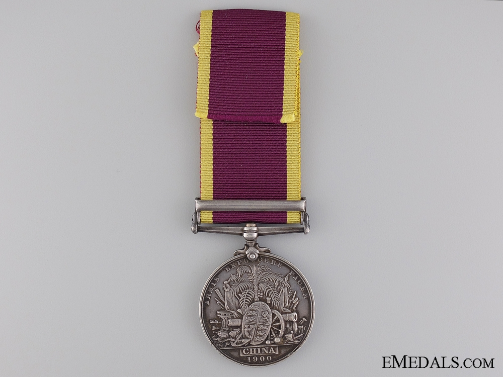 A 1900 China War Medal to the 1st Sikhs Infantry