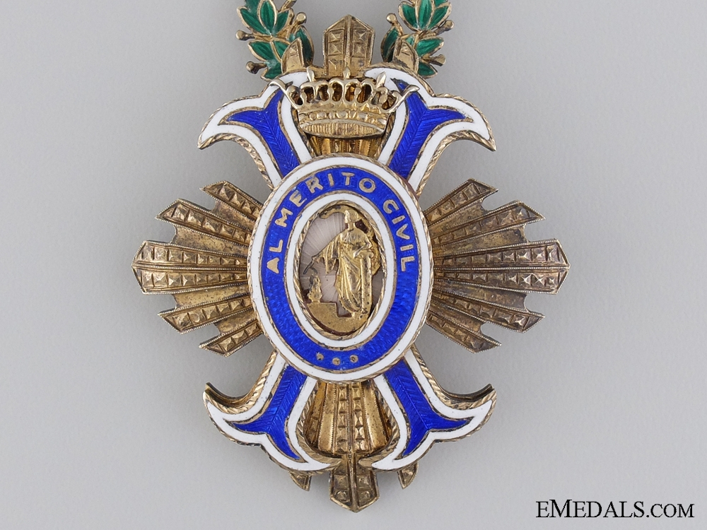 A Spanish Order of Civil Merit; Officer's Cross