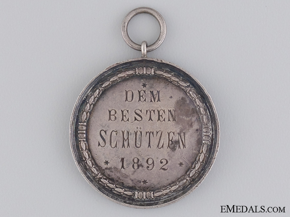 A 1892 Prussian Shooting Award Medal