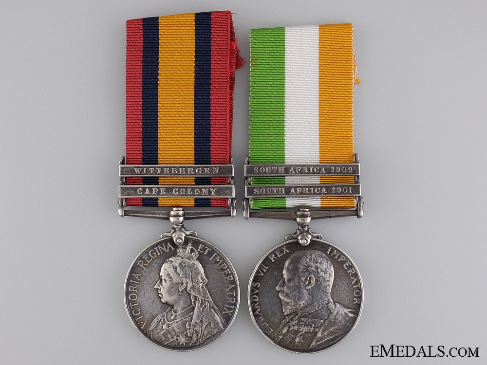 A Boer War Pair to the Worcestershire Regiment