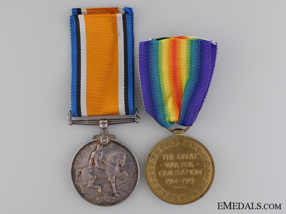 A First War Pair to the 15th Battalion
