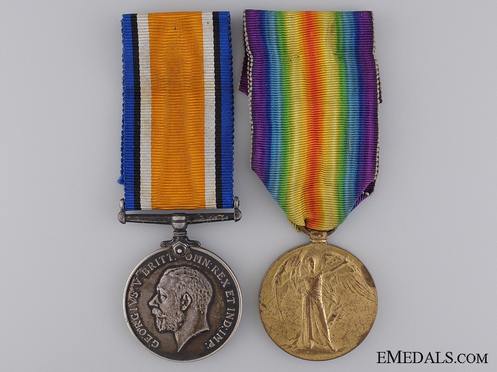 A First War Medal Pair to the Royal Canadian Navy