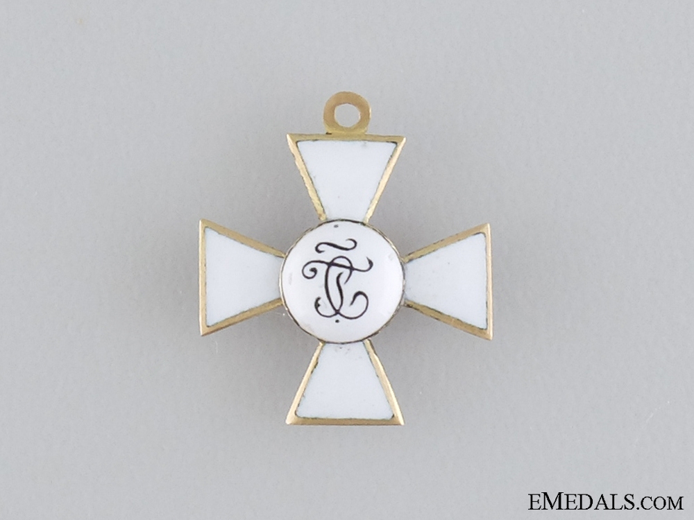 A Miniature Russian Order of St. George in Gold c.1850