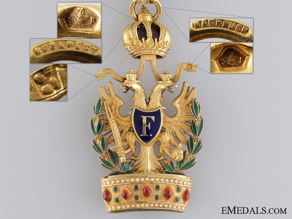 An Austrian Order of Iron Crown in Gold; Rare Hungarian Maker