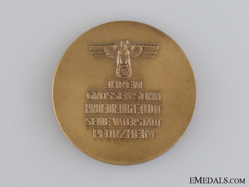 """A 1939 Voyage of the KdF Cruise Ship """"Robert Ley"""" to Norway Medal"""
