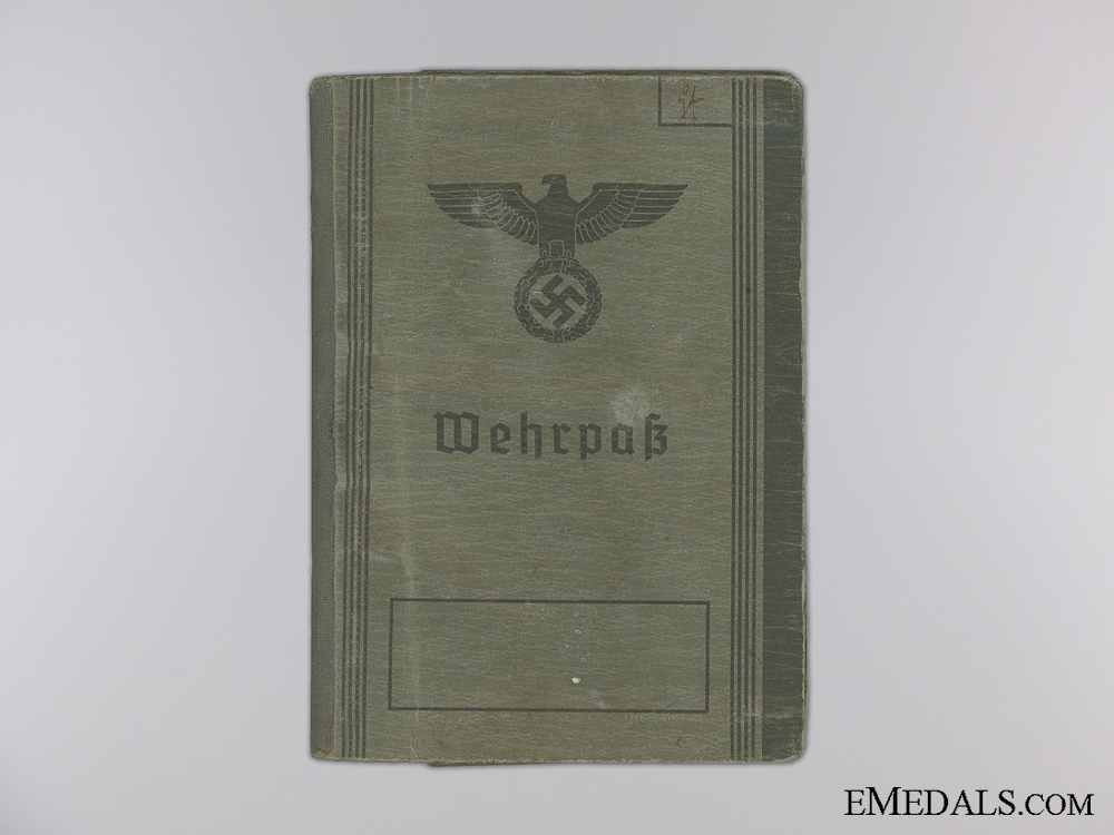 A Wehrpass and Documents to the Austrian Johann Starch