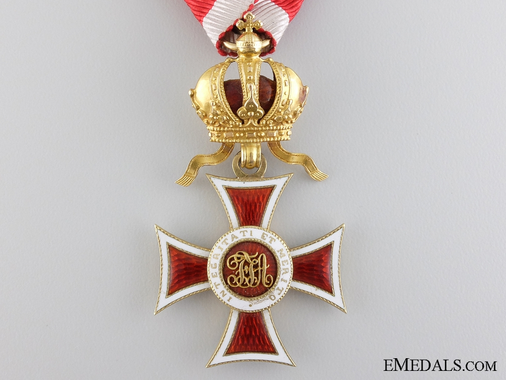 An Order of Leopold Knights Cross in Gold with Grand Cross c.1860