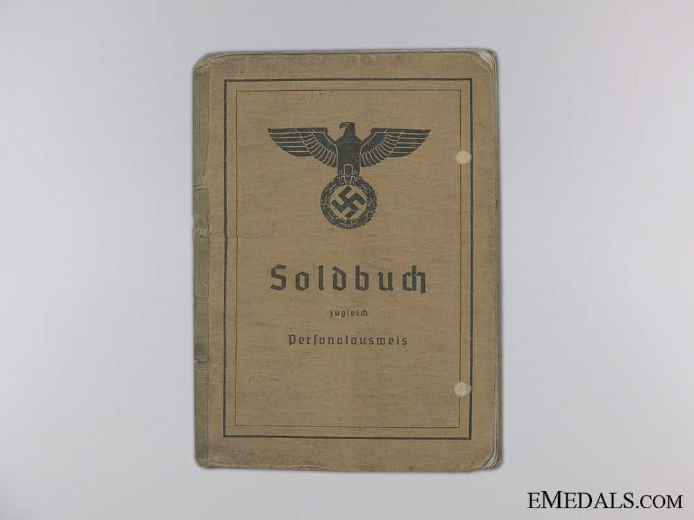 A Soldbuch to the 3rd Panzer J¡_ger Battalion; Wounded