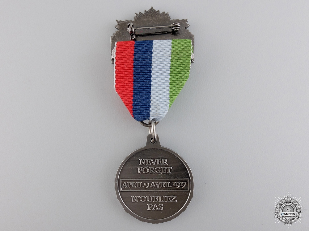 A First War Vimy Pilgrimage 90th Anniversary Medal