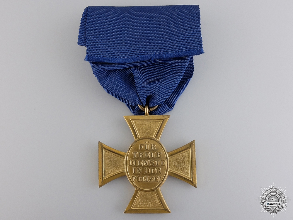 A Police Long Service Medal; First Class