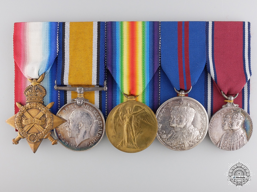 A First War Medal Bar to the Royal Navy