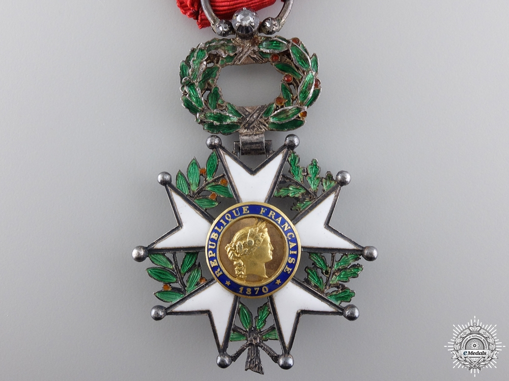 A French Legion D'Honneur with Gold Centre; Knight's Badge