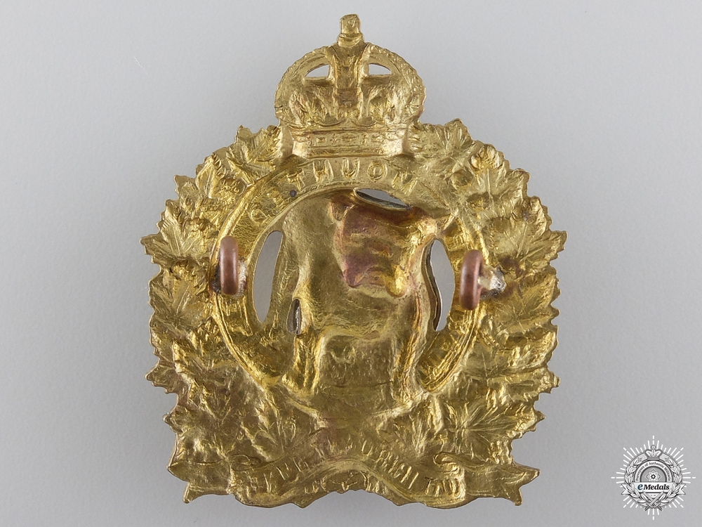 A WWII Manitoba Mounted Rifles Officer Cap Badge