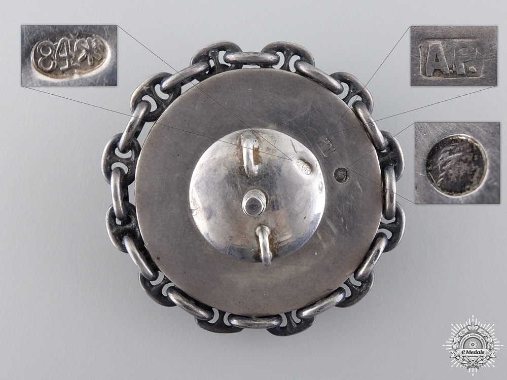 A Rare Russian Imperial Submarine Badge in Silver