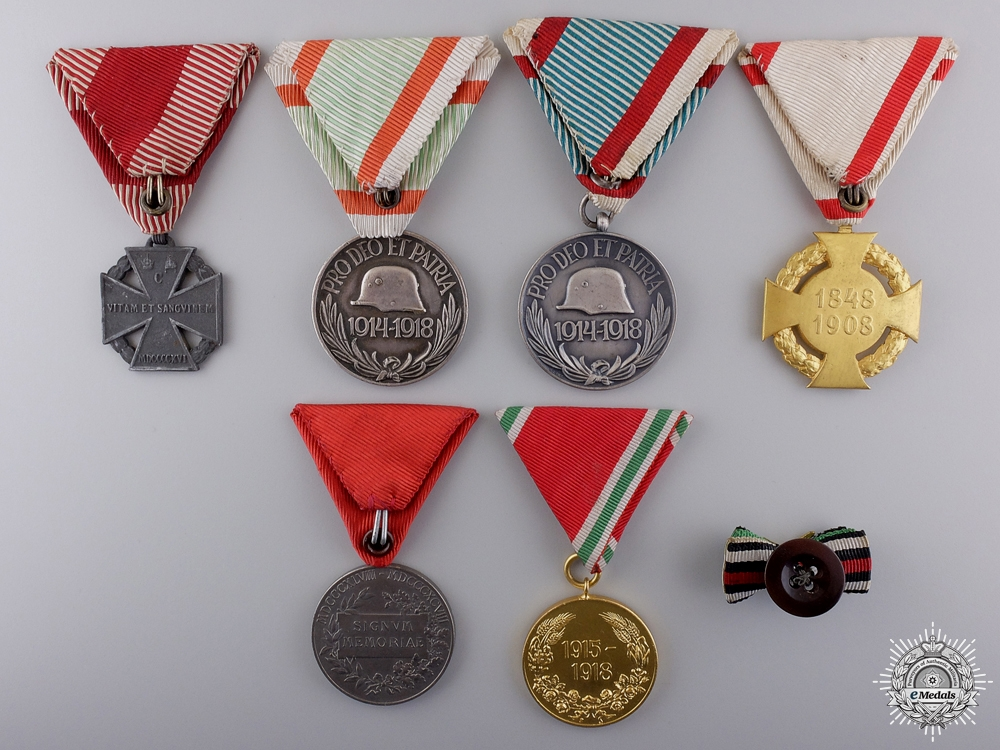 Six European Awards, Medals, and Ribbons