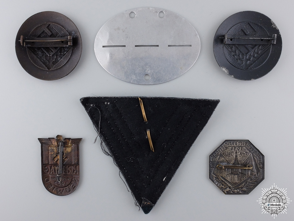 Six Second War German Badges and Insignia