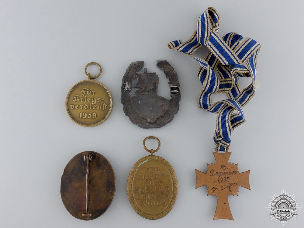 Five Second War German Medals and Badges