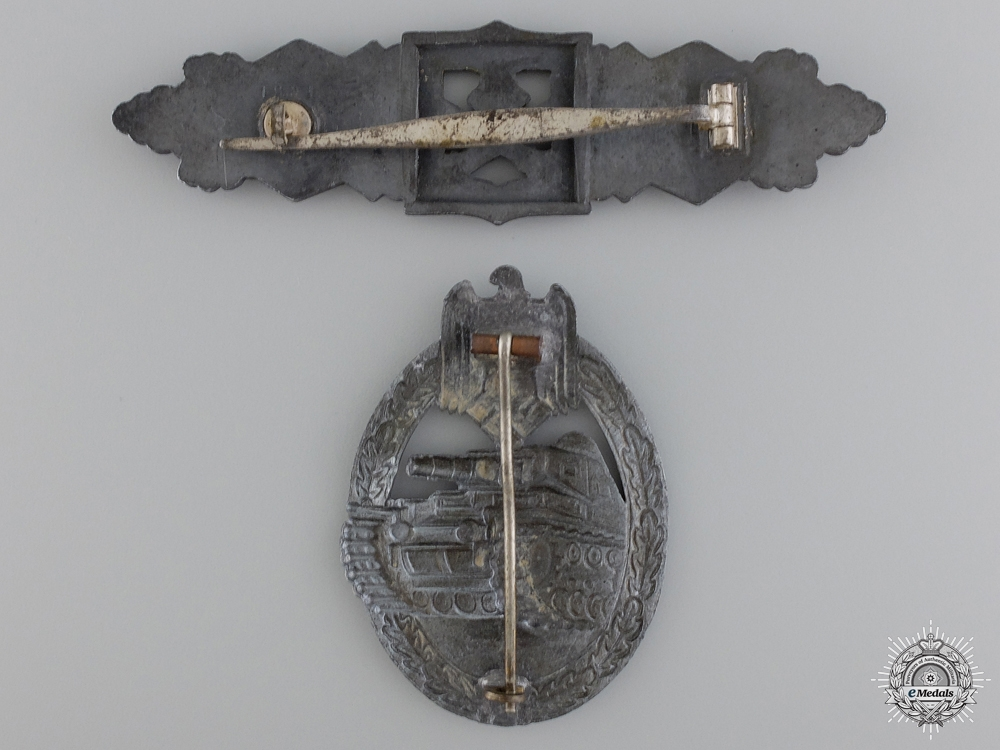 Two Second War German Army Badges