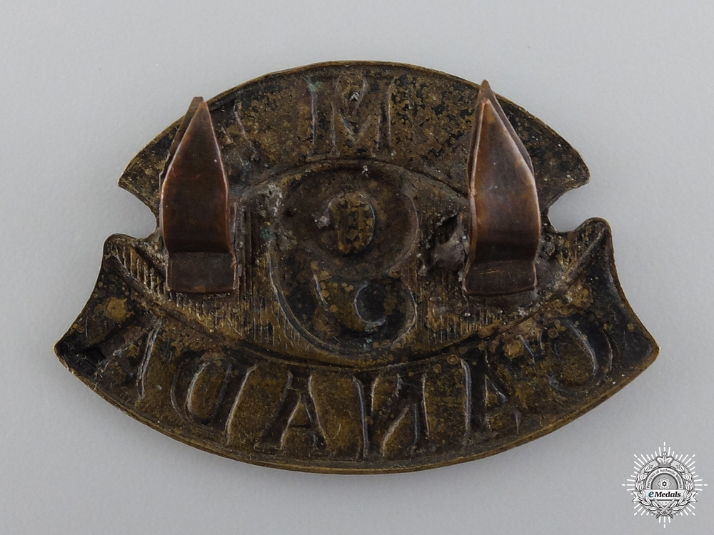 WWI 9th Canadian Field Ambulance Cap Badge  consign 17