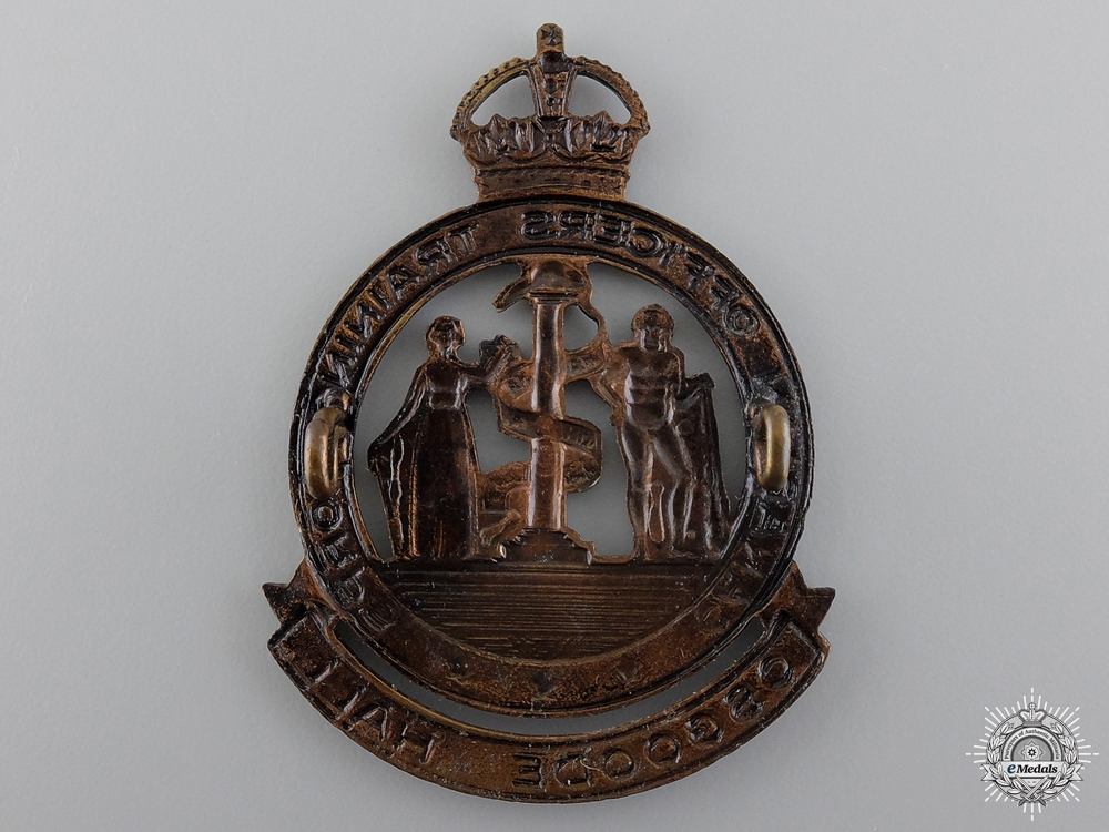 A WWII Osgoode Hall Canadian Officer Training Corps Cap Badgeconsign 17