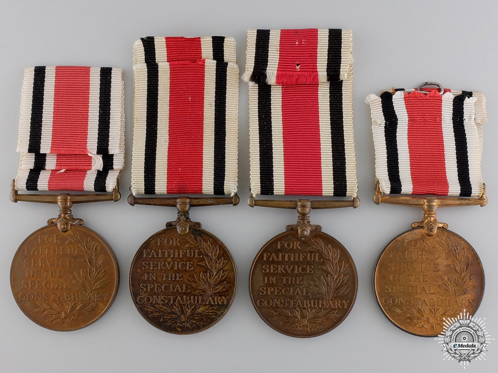 Four Special Constabulary Long Service Medals