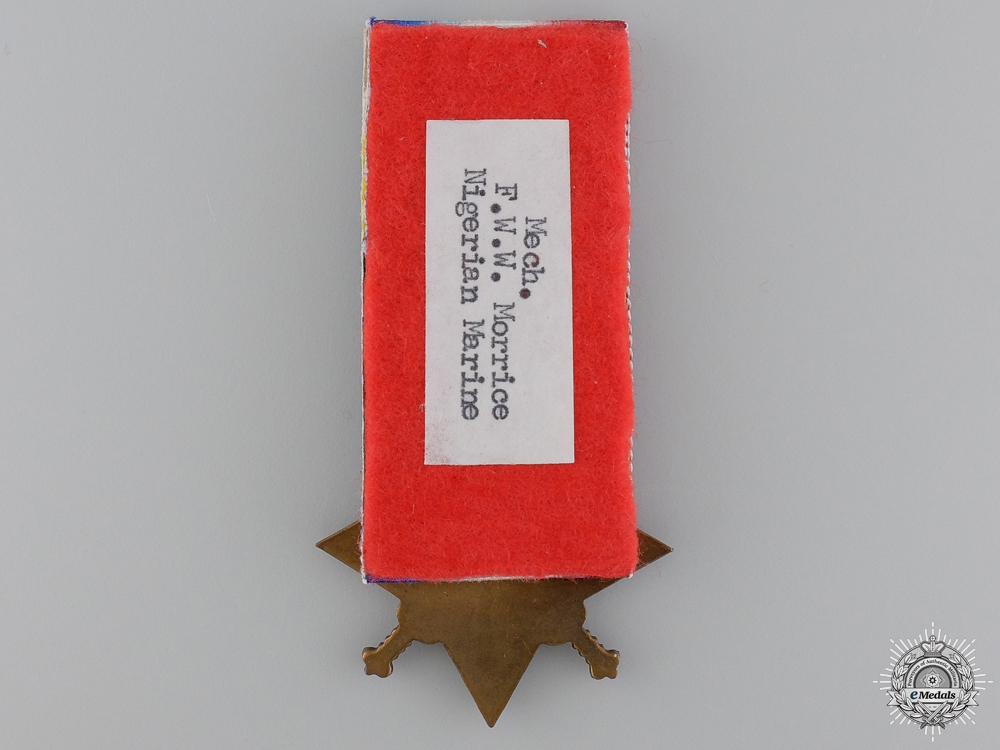 A 1914-15 Star to the Nigerian Navy