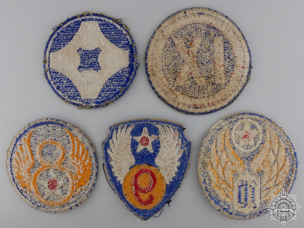 Five Second War American Division Patches
