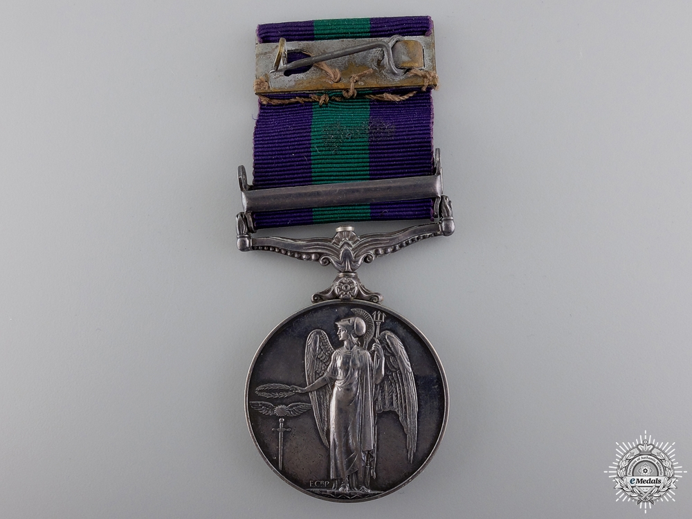 A General Service Medal to the 2nd Lieutenant; 15th/19th Hussars