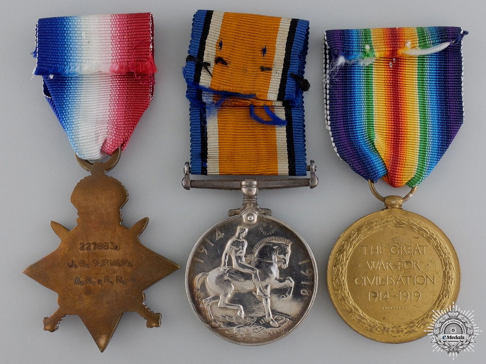 A First War Medal Group to the Royal Navy