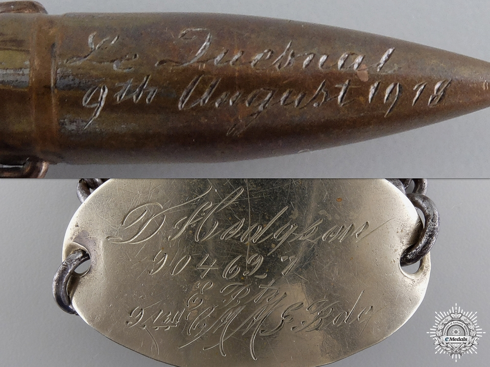 A WWI ID Tag to the Canadian Motorized Machine Gun Brigade