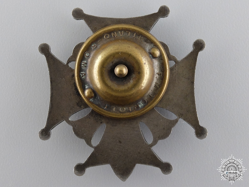 A Second War Polish 5th Borderlands Infantry Division Badge; Italian Made