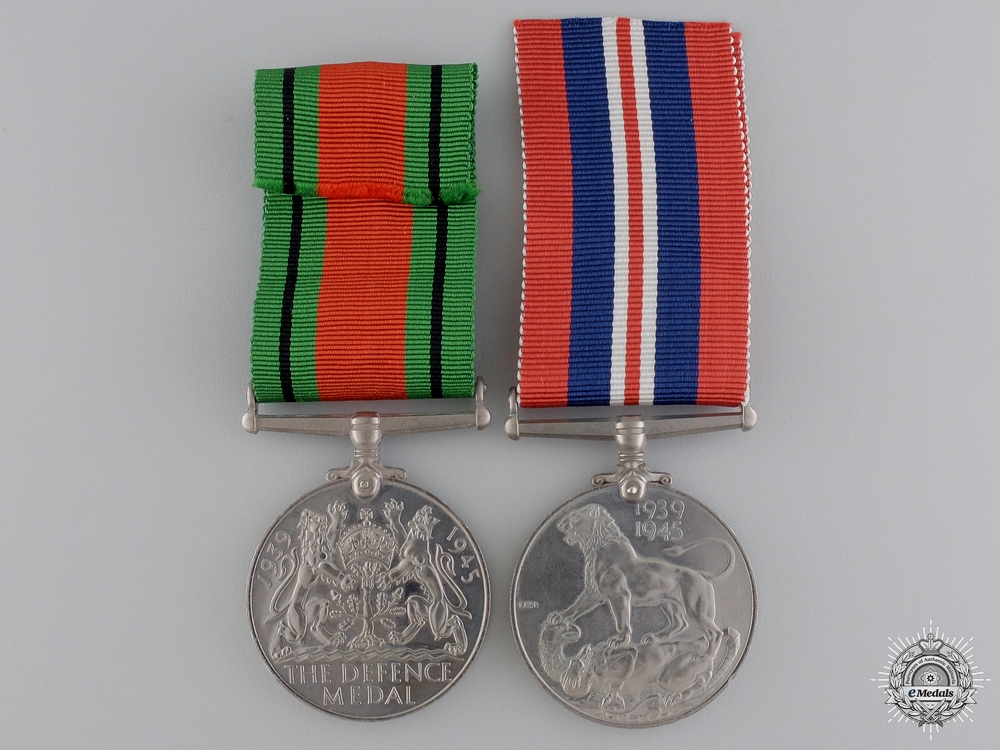 A Second War British Issued Medal Pairing