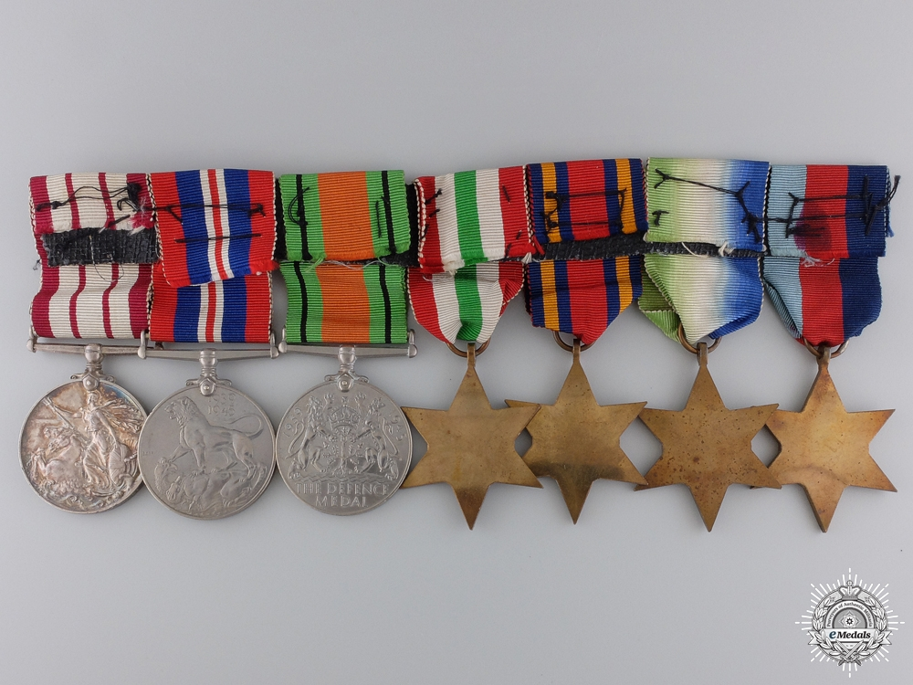 A Second War & Naval General Service Group of Seven Awards