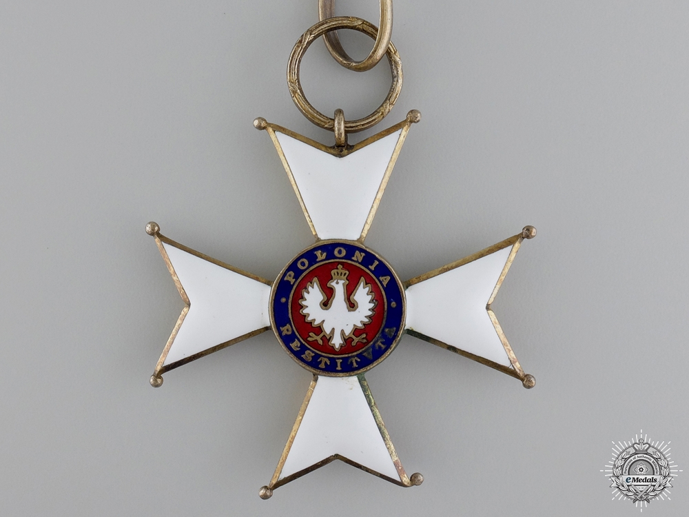 A 1918 Order of Polonia Restituta; Commander's Cross