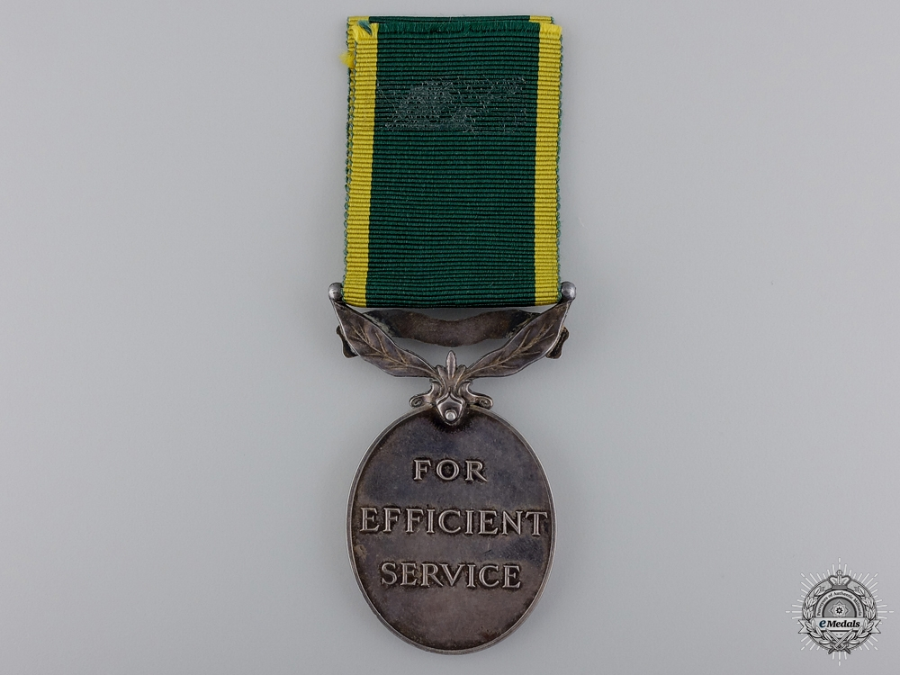 An Efficiency Medal to the Royal Artillery; Territorial Scroll