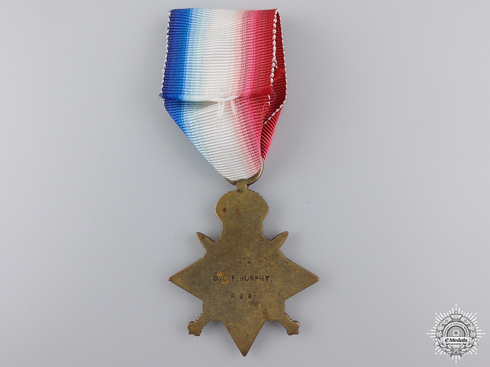"""A 1914 """"Mons"""" Star to the Royal Garrison Artillery"""