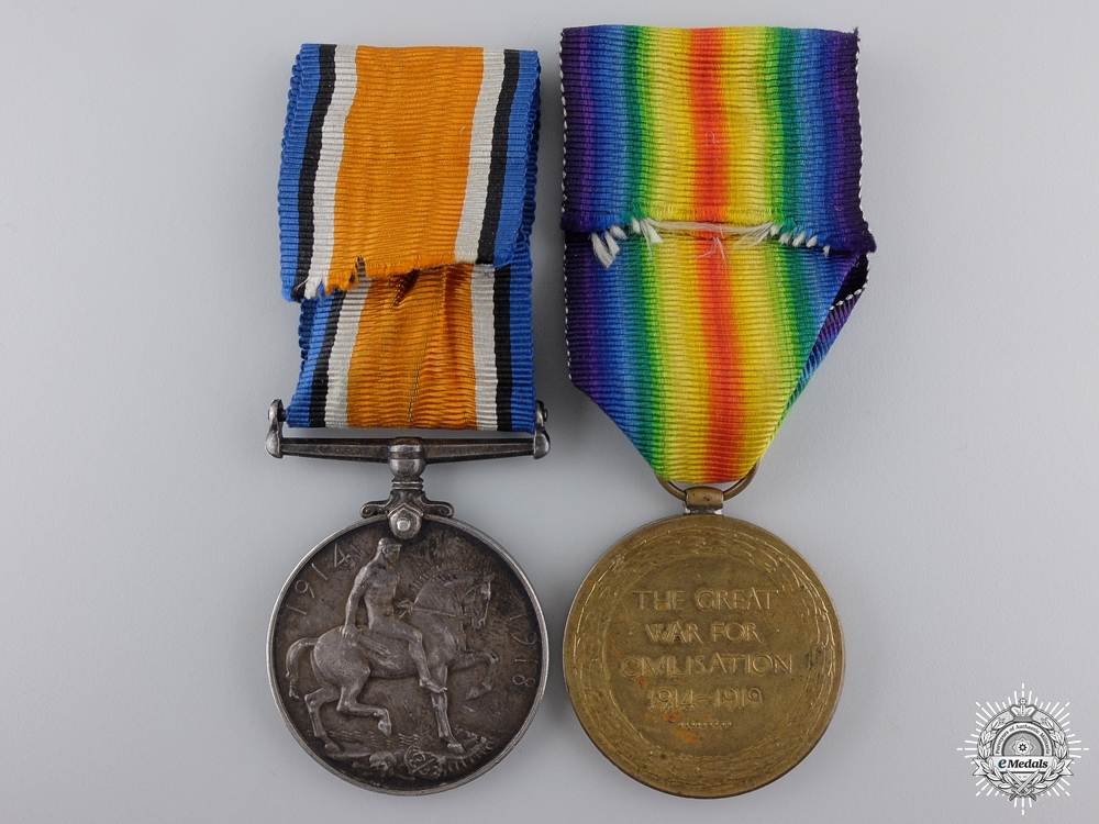 A First War Medal Pair to a Sapper Nathanson of Minsk Russia
